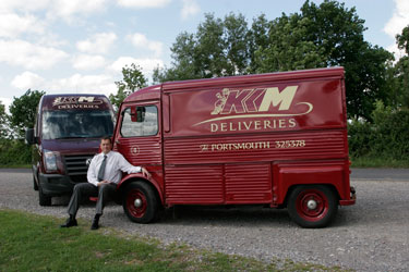 Kevin Matchan owner of KKM Deliveries